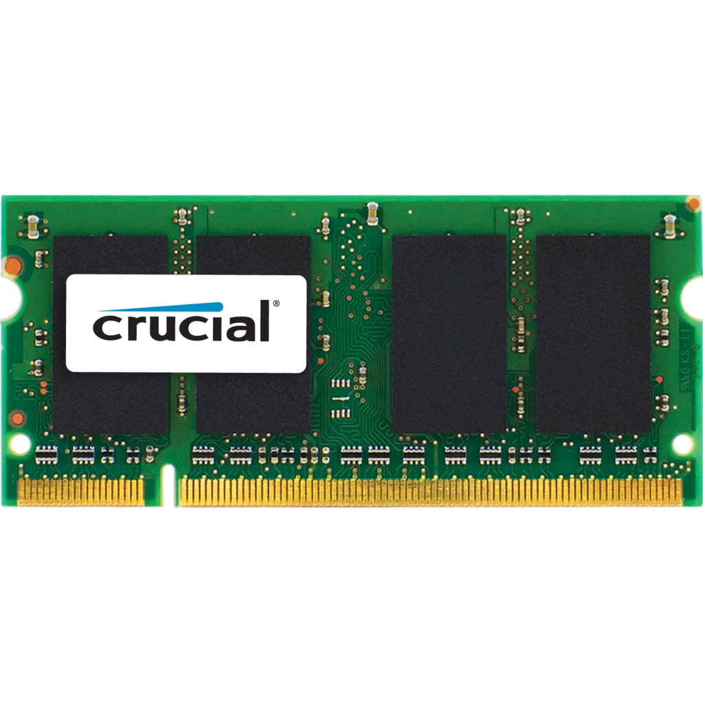 Crucial 4GB, 204-Pin SODIMM, DDR3 PC3-10600 Memory Module CT51264BF1339J