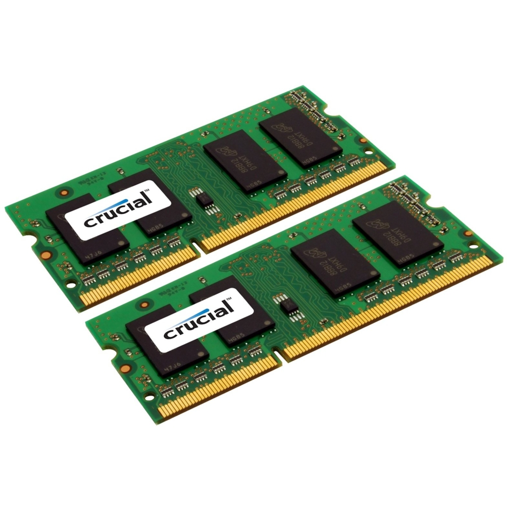 Crucial 8GB Kit (4GBx2), 204-pin SODIMM, DDR3 PC3-10600 Memory Module CT2KIT51264BF1339J